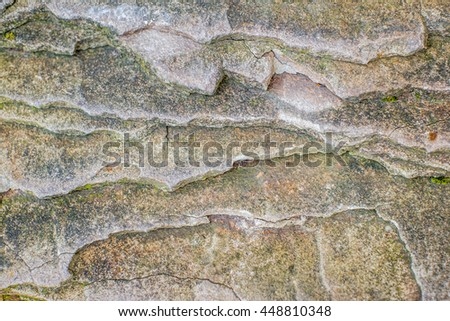 Layers of rock - stock photo