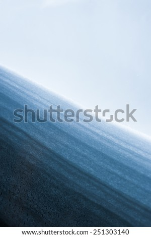 Layers of snow - stock photo