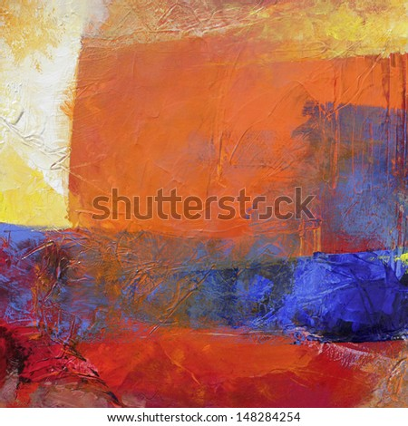 layers with oil paints - abstract painting - stock photo
