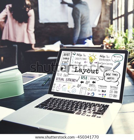 Layout Creative Design Editing Organization Concept - stock photo