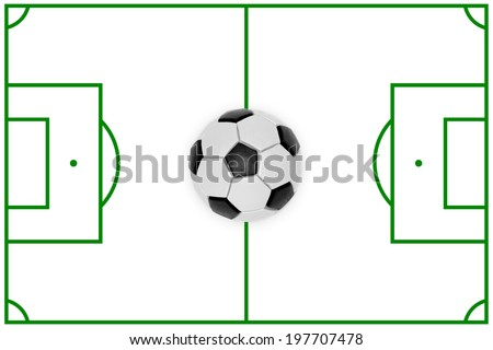 Layout of a football field and ball. Texture, background
