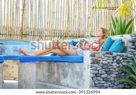Laze away the long summer day - stock photo