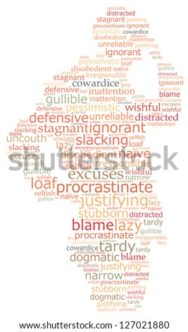 Lazy: text graphics - stock photo