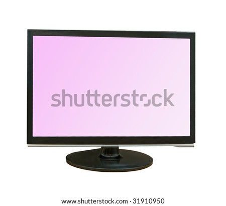LCD display isolated on white background