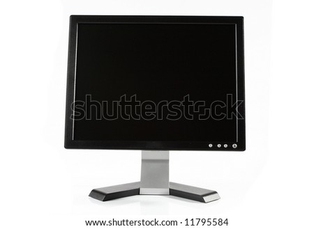 LCD high definition flat screen - stock photo