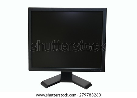 lcd monitor in isolate background