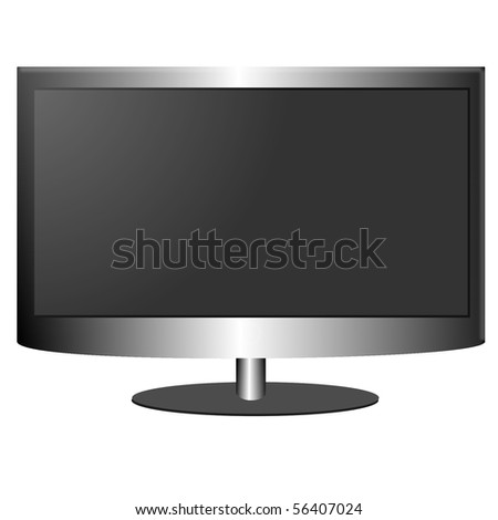 LCD/Plasma TV Screen isolated on a white background