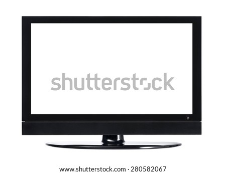 LCD screen TV with white background