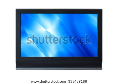 LCD Television monitor isolated on white background. - stock photo