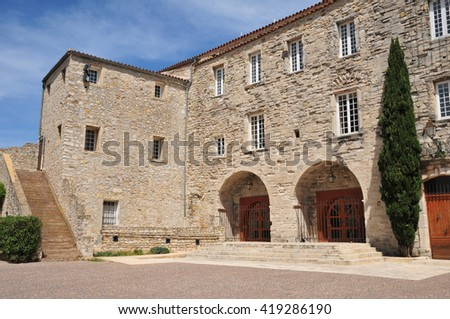 Le Castellet, France - april 20 2016 : the city hall in the castle