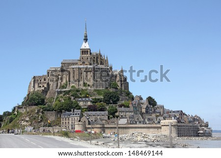 Le Mont Saint Michel Abbey, Normandy / Brittany, France - stock photo
