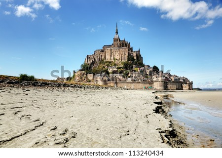Le Mont Saint-Michel, Normandy, France - stock photo