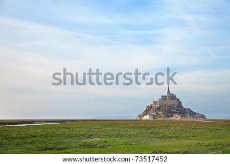 Le Mont Saint Michel, Normandy, France - stock photo