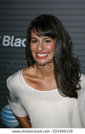 "Lea Michele at the Blackberry ""Torch"" Launch Party, Private Location, Los Angeles, CA. 08-11-10"