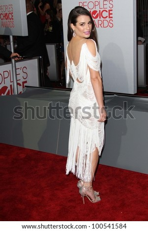 Lea Michele at the 2012 People's Choice Awards Arrivals, Nokia Theatre. Los Angeles, CA 01-11-12