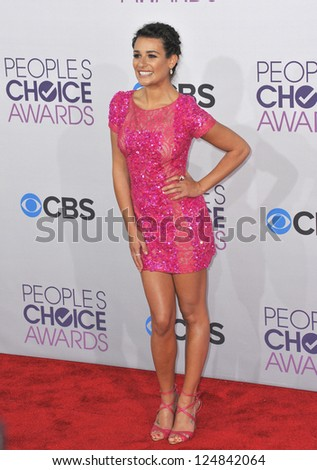 Lea Michele at the People's Choice Awards 2013 at the Nokia Theatre L.A. Live. January 9, 2013  Los Angeles, CA Picture: Paul Smith