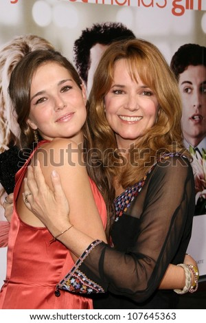 Lea Thompson and daughter  at the Los Angeles Premiere of 'My Best Friend's Girl'. Arclight Hollywood, Hollywood, CA. 09-15-08