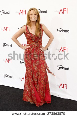 Lea Thompson at the 40th AFI Life Achievement Award Honoring Shirley MacLaine held at the Sony Studios in Los Angeles on June 7, 2012. - stock photo