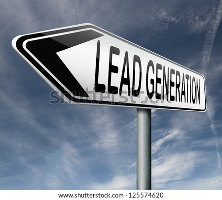 lead generation internet marketing for online market ecommerce sales - stock photo