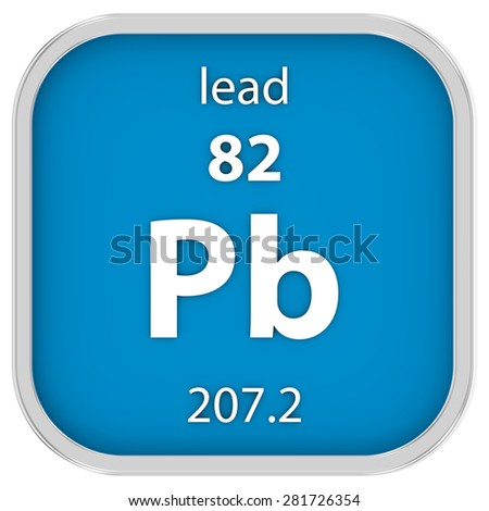 Lead material on the periodic table. Part of a series.