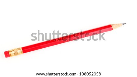 Lead pencil isolated on white - stock photo