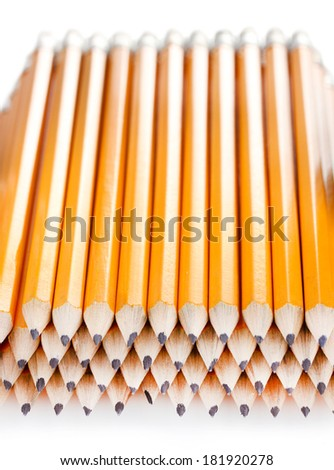 lead pencils isolated on white - stock photo