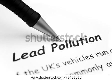 Lead pollution - stock photo