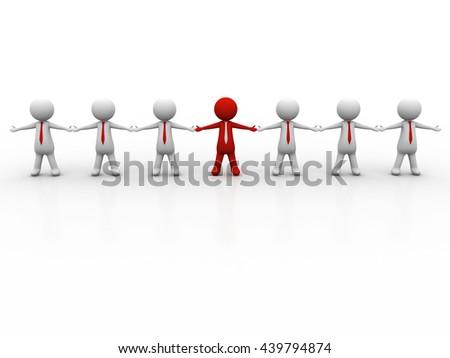 Leader. Concept. 3d illustration - stock photo