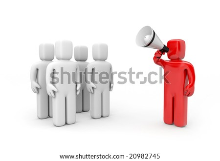 Leader speaks - stock photo