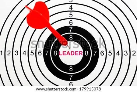 Leader target - stock photo