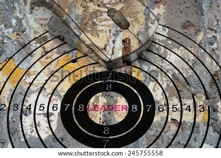 Leader target concept - stock photo