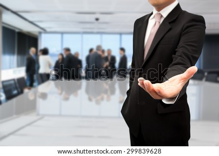 Leader with finding people who are capable. - stock photo