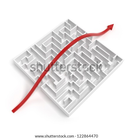 Leadership And Business Vision With Strategy isolated on a white background - stock photo