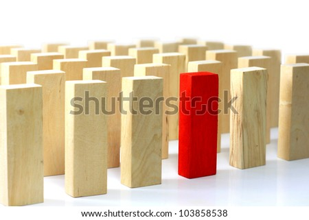 Leadership and team abstract business concept - stock photo