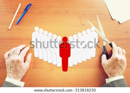 Leadership and teambuilding. Abstract conceptual image - stock photo