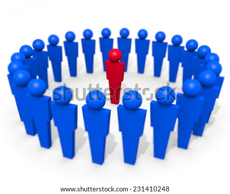 Leadership - Be An Individual - An illustration relating to leadership roles and the importance of individuality in the those positions. - stock photo