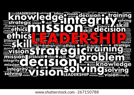 Leadership concept in word - stock photo