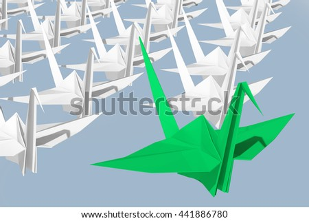 Leadership concept. Isolated on sky background.  3d render. - stock photo
