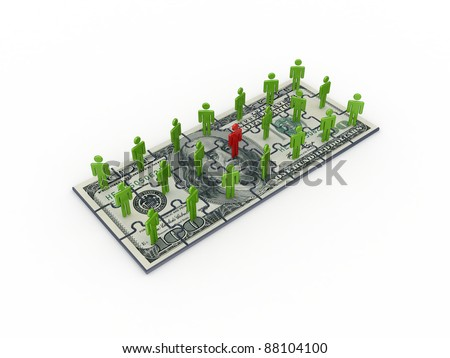 Leadership concept.Isolated on white background.3d rendered.