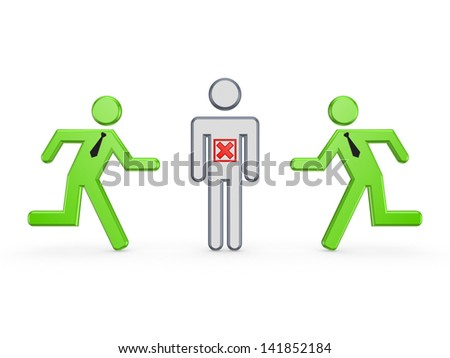 Leadership concept.Isolated on white.3d rendered. - stock photo