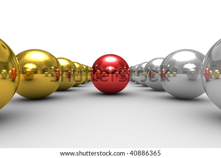 leadership concept on white background. Isolated 3D image - stock photo