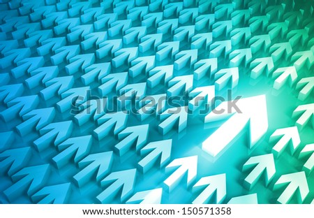 Leadership Concept With Arrows Leading the Way - stock photo