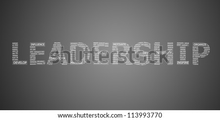 leadership concept word - stock photo
