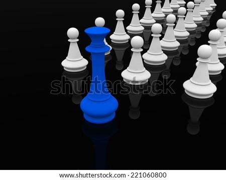 Leadership - 3d render - stock photo