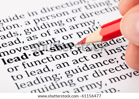 Leadership - definition in a dictionary - stock photo