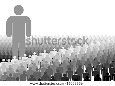 Leadership Divide - stock photo