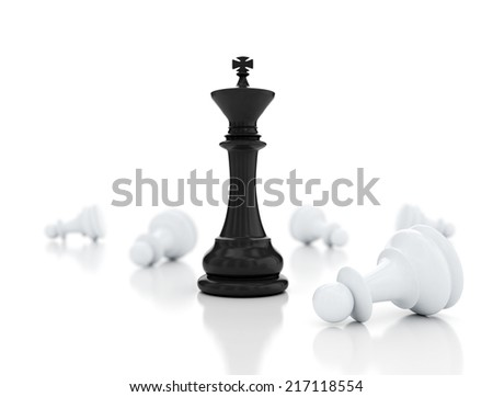 Leadership illustration on white background