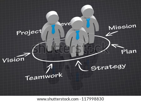 Leadership skill concept - stock photo