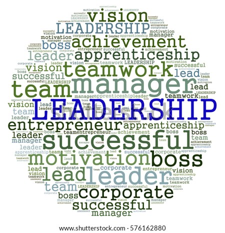 LEADERSHIP word cloud. Concept for business successful, brainstorming, motivation or other your content.