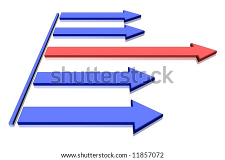 Leading Arrow - stock photo